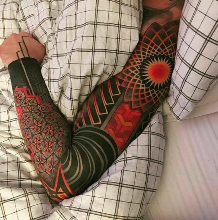 Coloured Tribal Sleeve