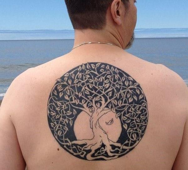 Twisted Knot Tree Tattoo