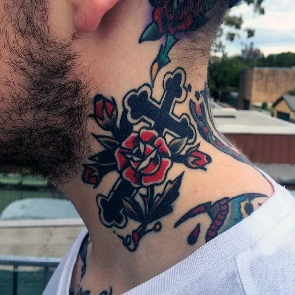 Cross Neck Tattoo Ideas