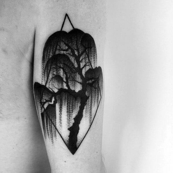 Cool Willow Tree Tattoo