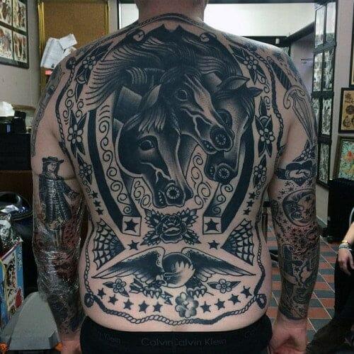 Full Back Horse Tattoo