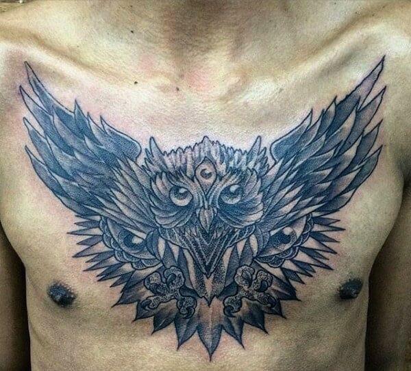 Male Chest Tattoo
