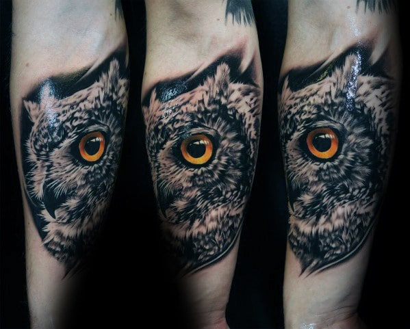 Inner Arm Owl Tattoo