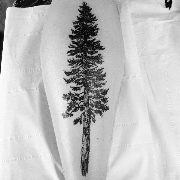Masculine Leg Tattoo