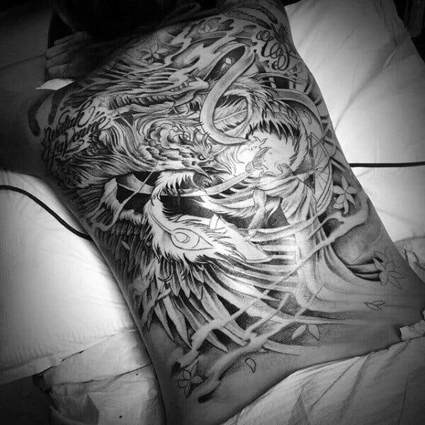Black Full Phoenix Tattoo