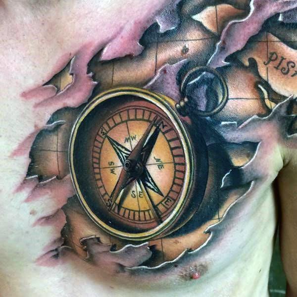 Nautical Compass Rose Tattoo