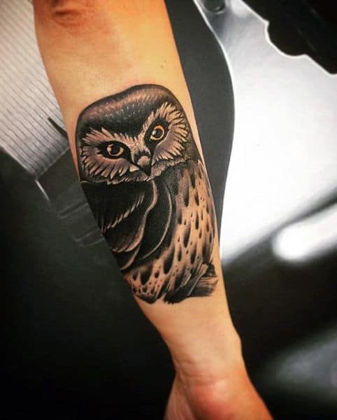 Mystical Owl Tattoo