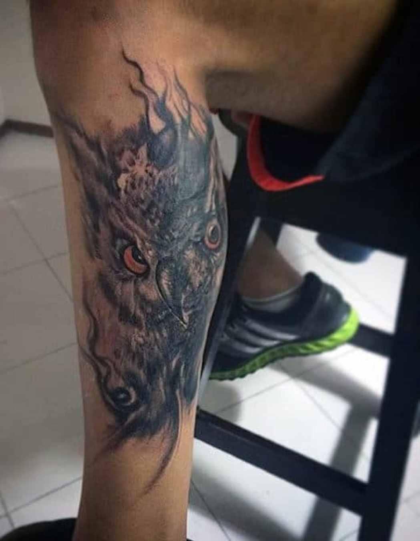 Owl Feather Tattoo Ideas
