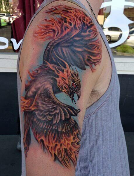 Fantasy Phoenix Tattoo