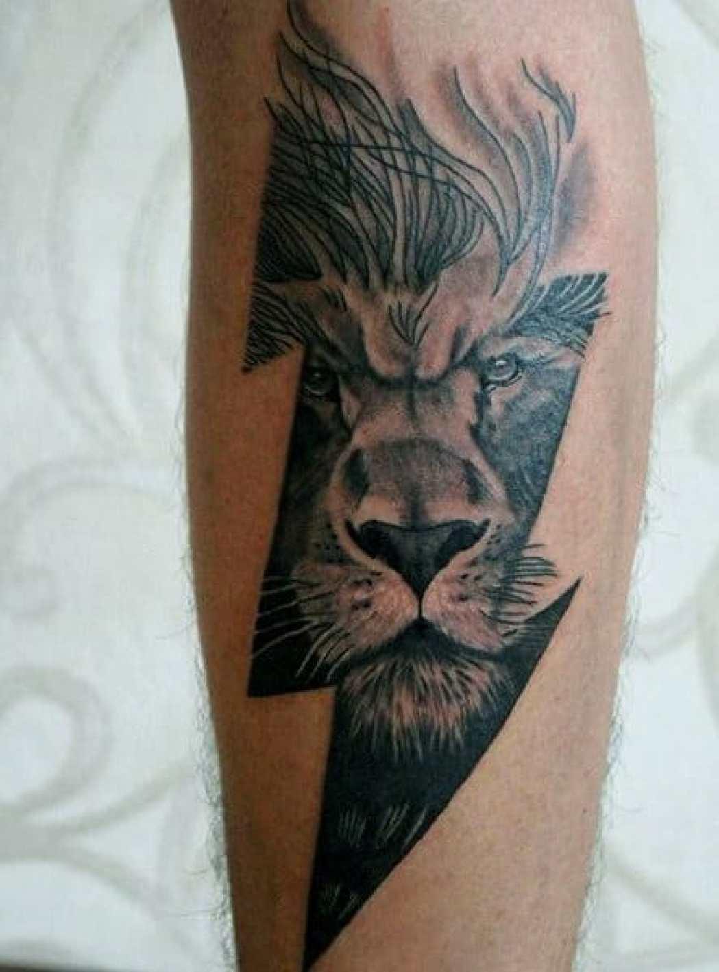 Thunderbolt Lion Tattoo