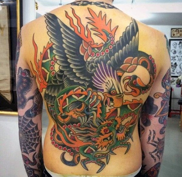 Traditional Sailor Jerry Back Tattoo