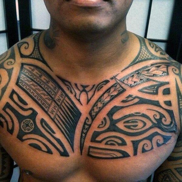Samoan Full Chest Tattoo