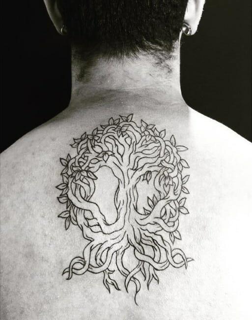 Twisted Tree Tattoo