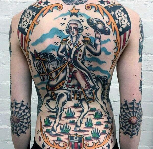 Unique Back Tattoo