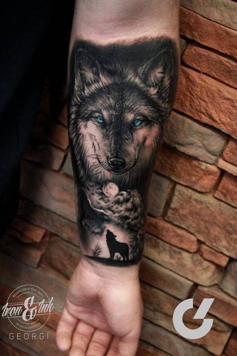 Wolf Arm Half Sleeve