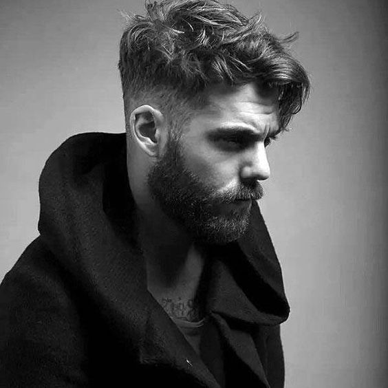 Low Fade Medium Side Fringe & Full Bandholz Beard