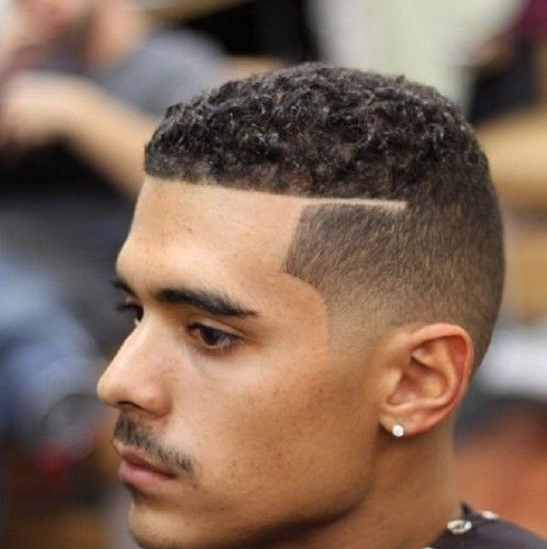Low Curls with Low Fade & Line