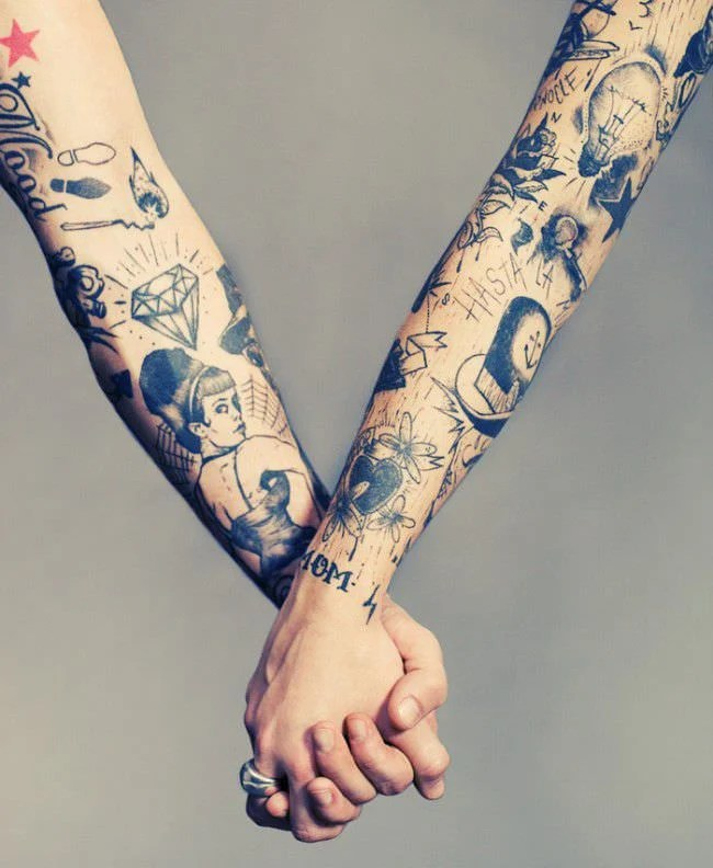 matching couples sleeve