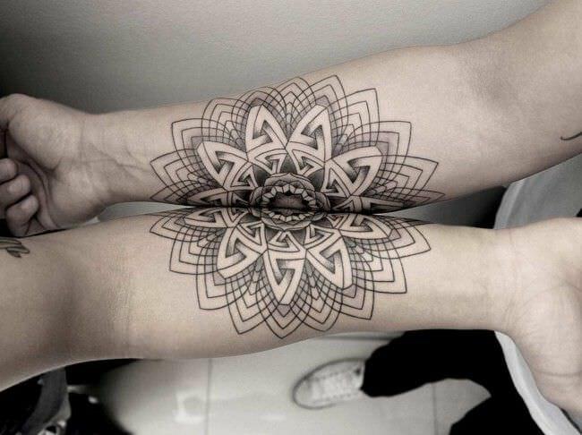 couples amazing design tattoo