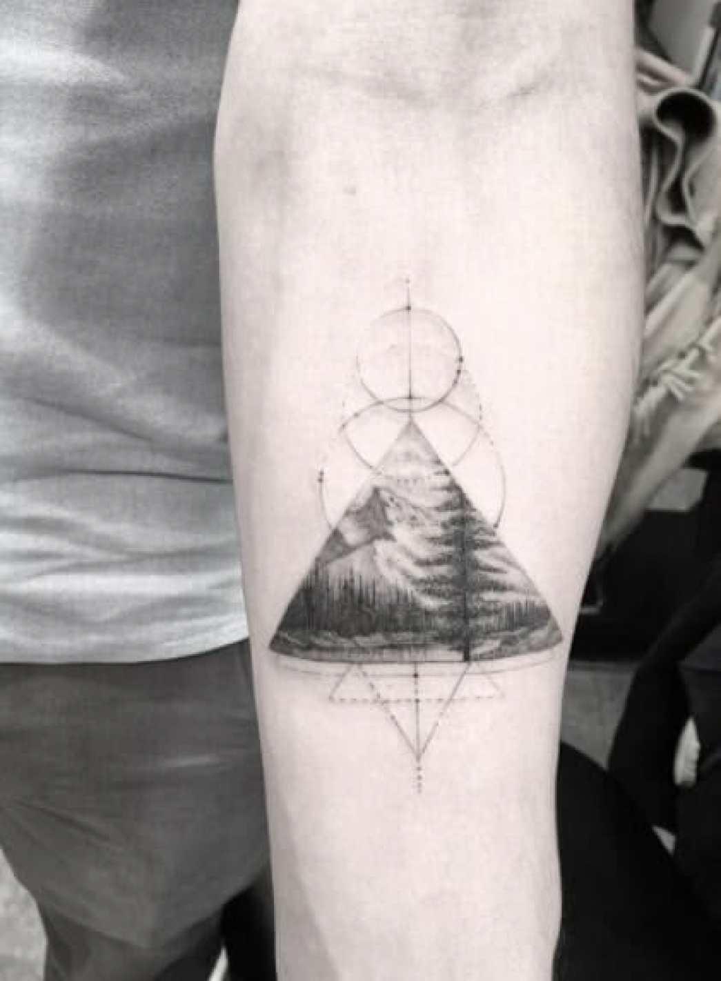 Triangle Arm Tattoo