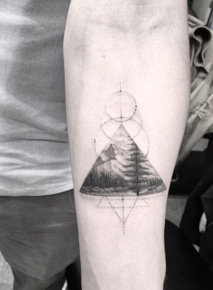 Triangle Arm Tattoo