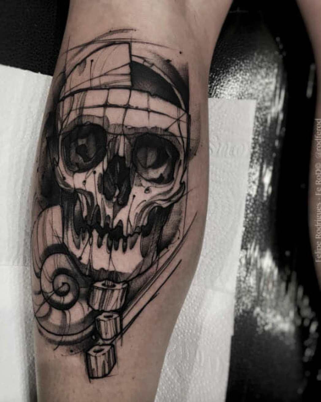 Amazing Skull Arm Tattoo