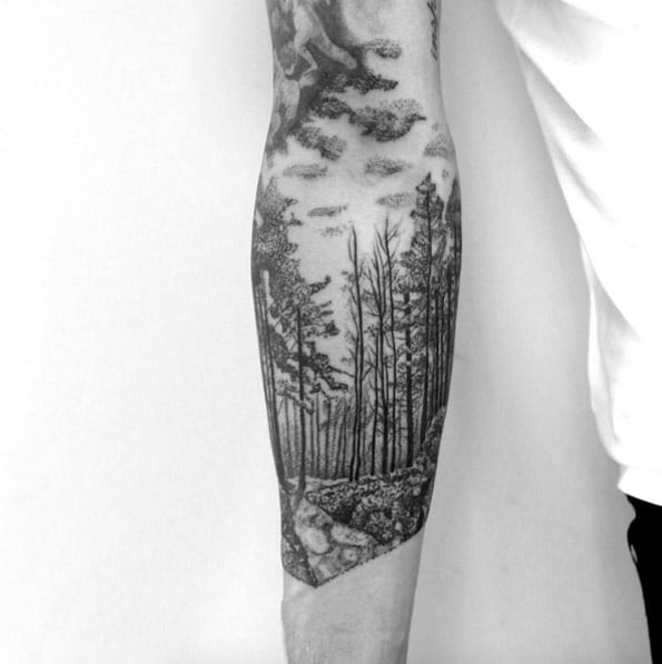 Forest Arm Tattoo