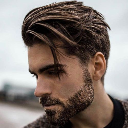 Low Fade & Beard with Medium Brown Hair