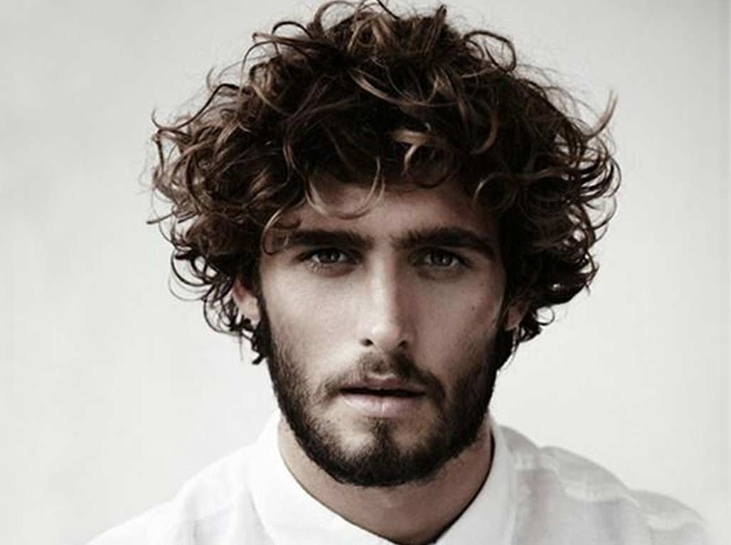 Curly Wavy Hair with Verdi Beard Style