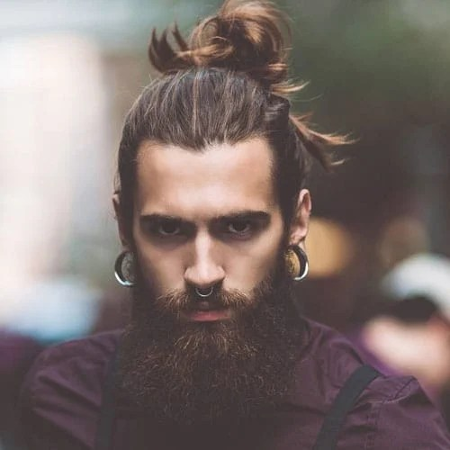 Brown High Man Bun
