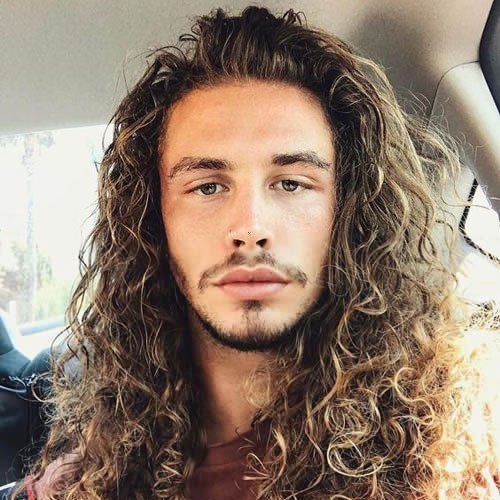 Light Brown Long Curly Hairstyle
