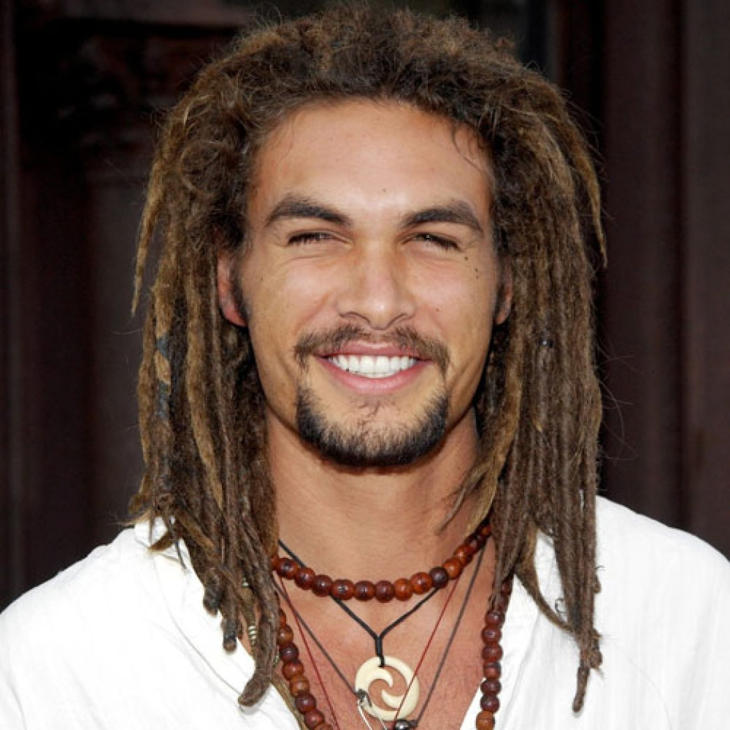Jason Momoa Long Brown Dreadlocks
