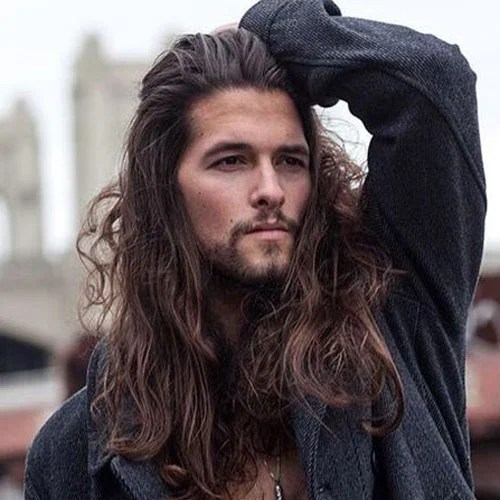 Brown Long Hair And Goatee Beard