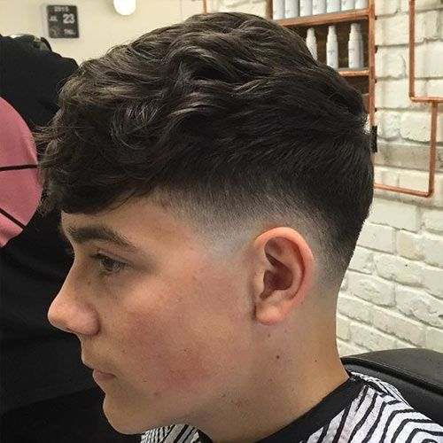 Fade with Textured Hairstyle