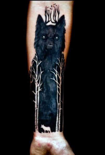 Alpha Wolf Tattoo