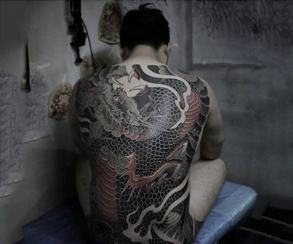 Red Chinese Dragon Tattoo