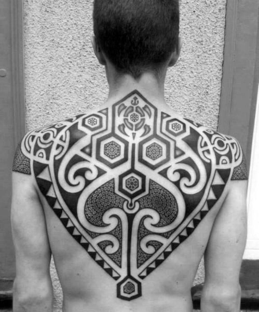 dot work tribal turtle