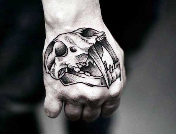 Animal Skull Tattoo