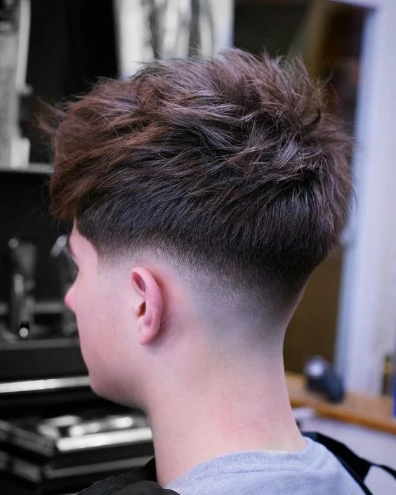 Low Fade with Spiky Hair