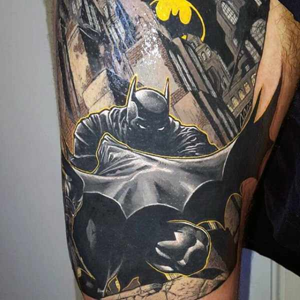 Batman Sign Tattoo