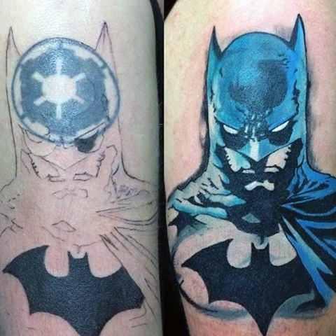Cartoon Batman Tattoo