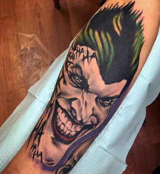 Cool The Joker Forearm Tattoo