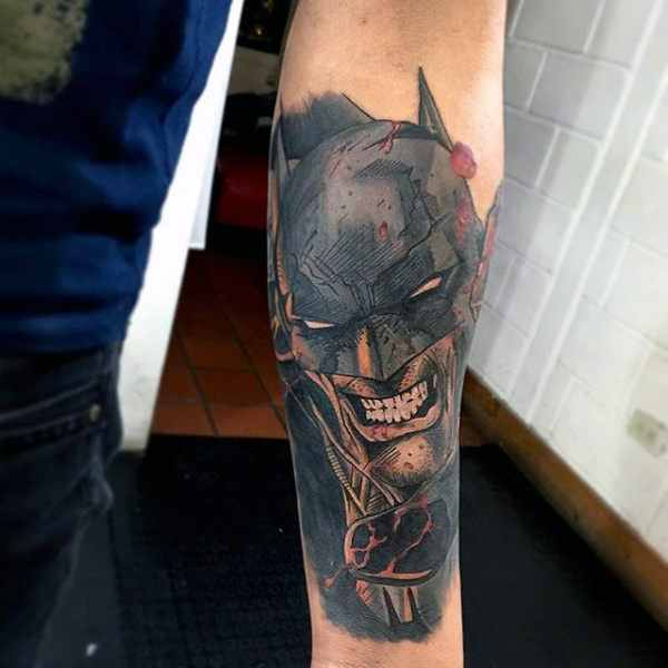 Cool Batman Forearm Tattoo