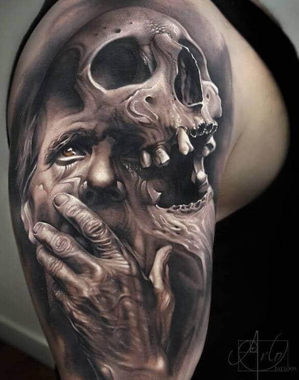 Crazy Skull Sleeve