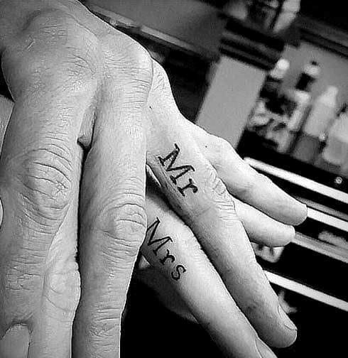 Mr & Mrs Couples Tattoos