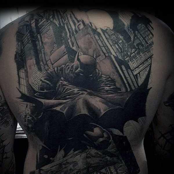 Batman Themed Full Back Design