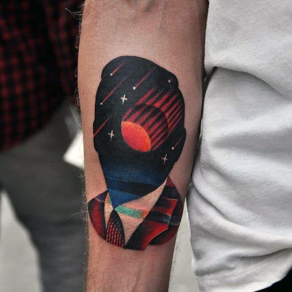 Amazing Night Sky Arm Tattoo