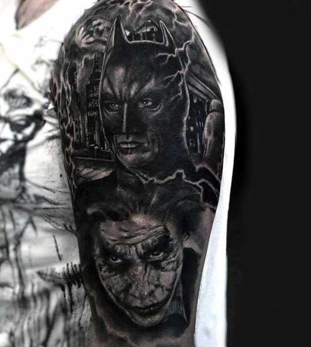 Batman & Joker Arm Full Sleeve