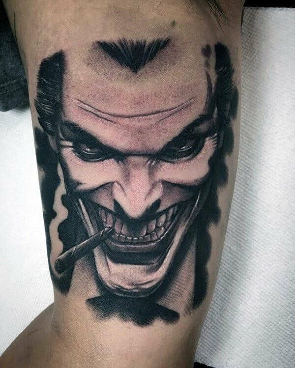 The Joker Bicep Tattoo