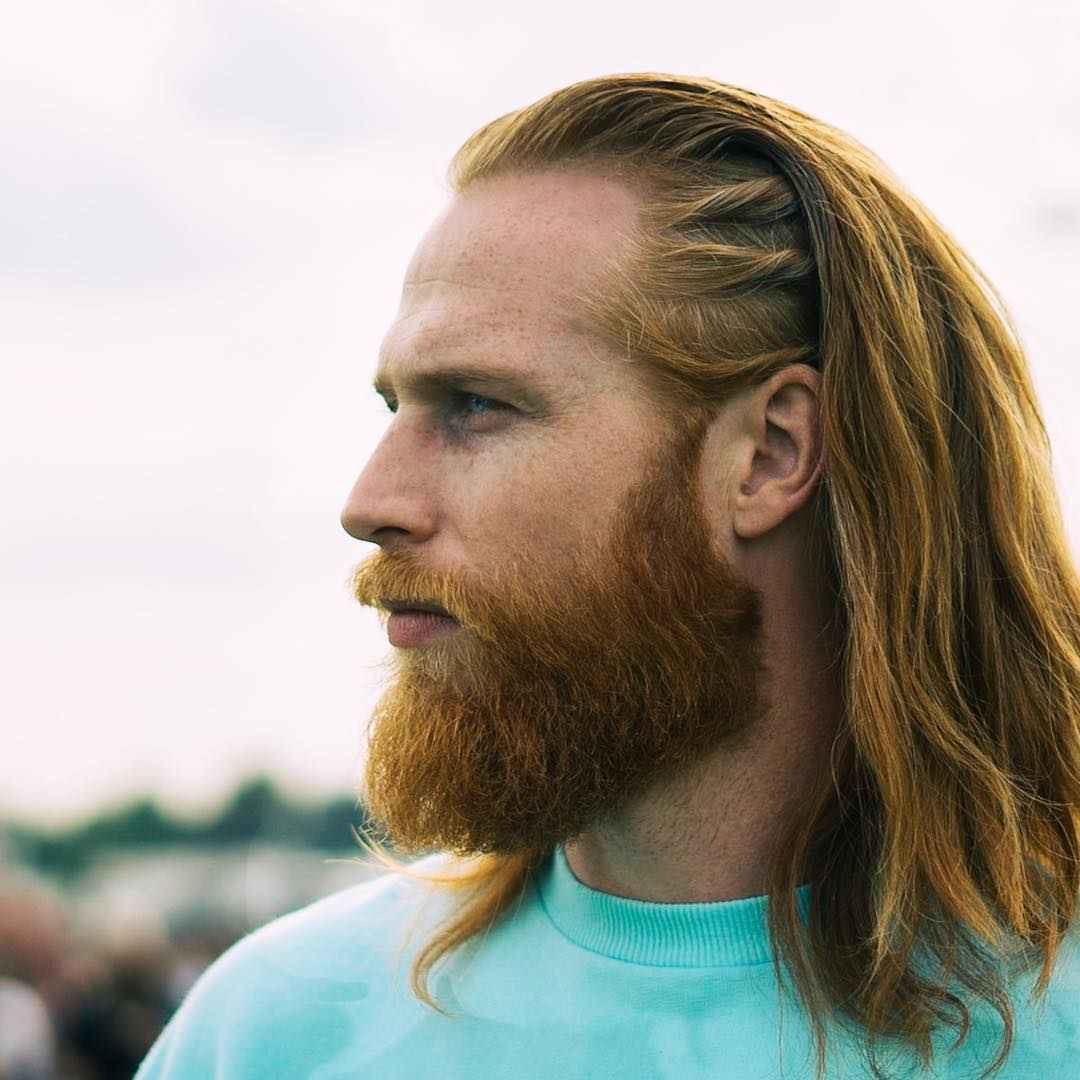 Ginger Long Hair with Braids And Beard